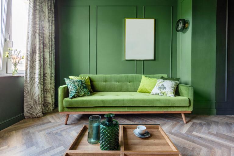 elegantes Altbau-Wohnzimmer